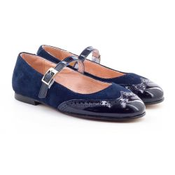 Boni Aliénor - suede and patent leather ballet flats for girls